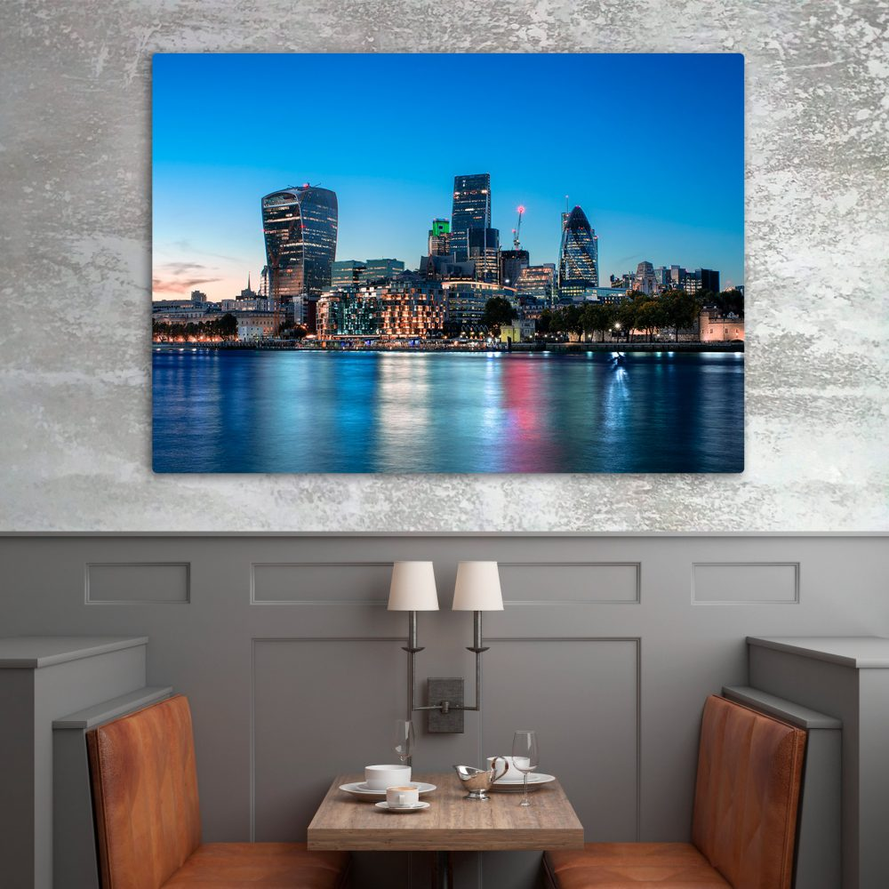 London Financial Distric - Aluminium Art Print