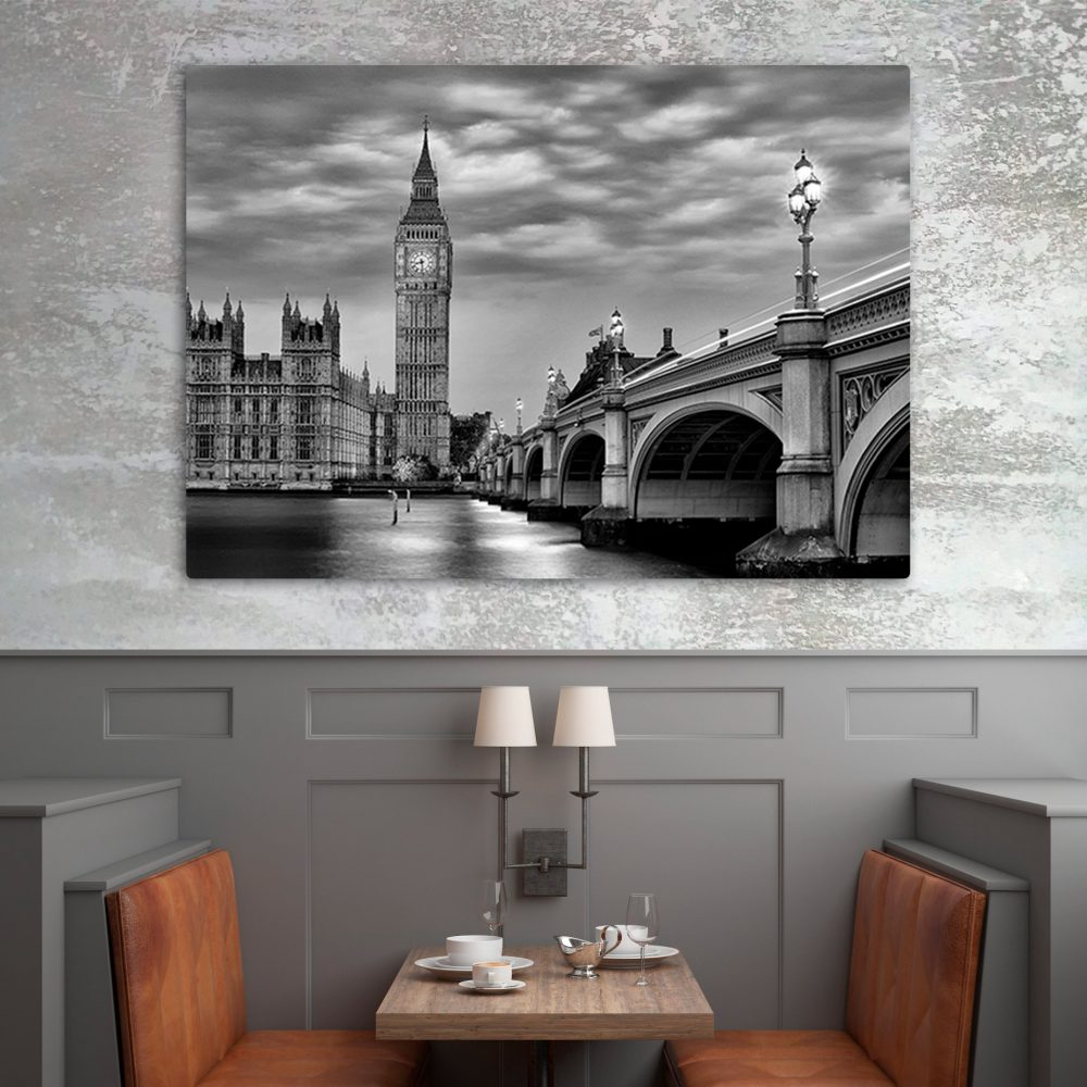 Westminster Bridge & Big Ben Art Print